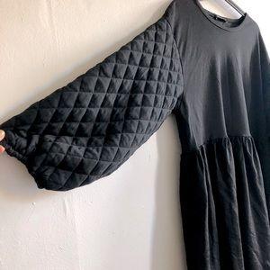 ZARA Paris Quilted Sleeve Princess Dress L